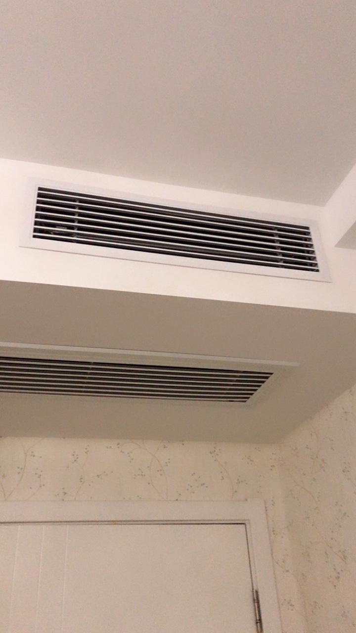 铝合金中央空调出风口百叶窗商场换气通风口家用单层固定条形风口