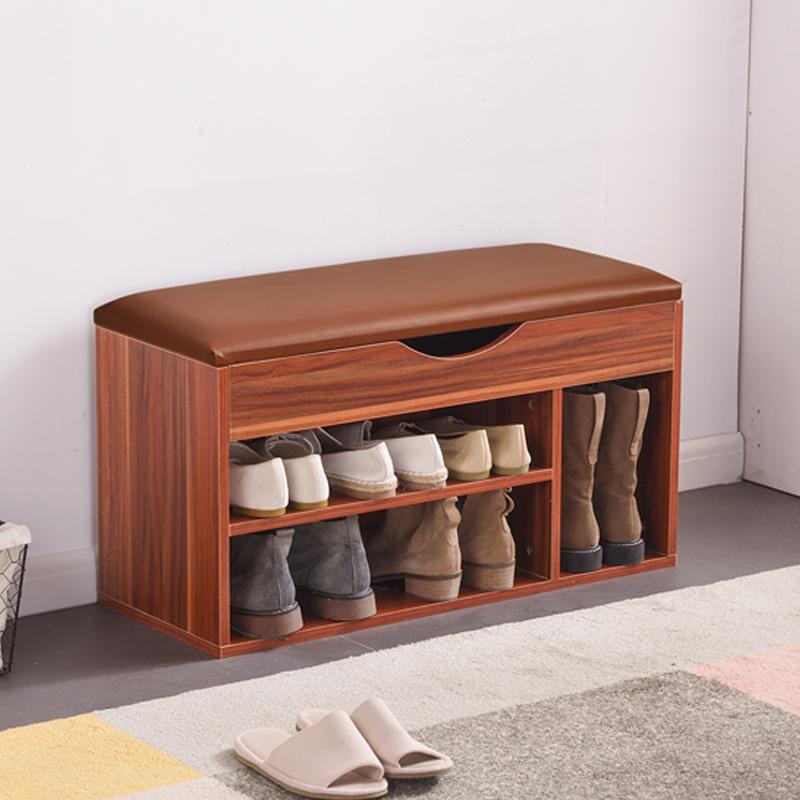 进门口换鞋凳家用可坐式鞋柜鞋架多功能储物凳收纳简约现代穿鞋凳