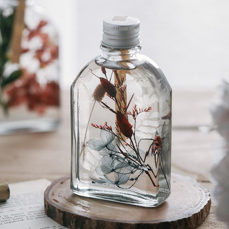 杂啊 永生花浮游花瓶植物标本玻璃瓶礼盒装 桌面摆件礼物女生礼品