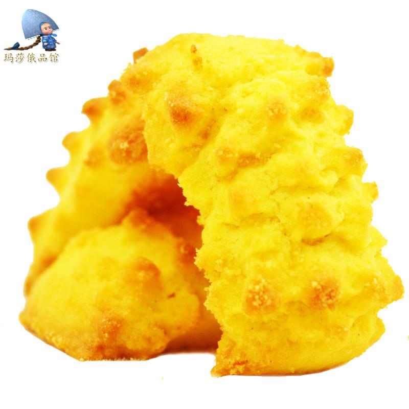 热销酥性饼干 玉米酥 俄罗斯进口食品办公零食牛奶味早餐代餐250g