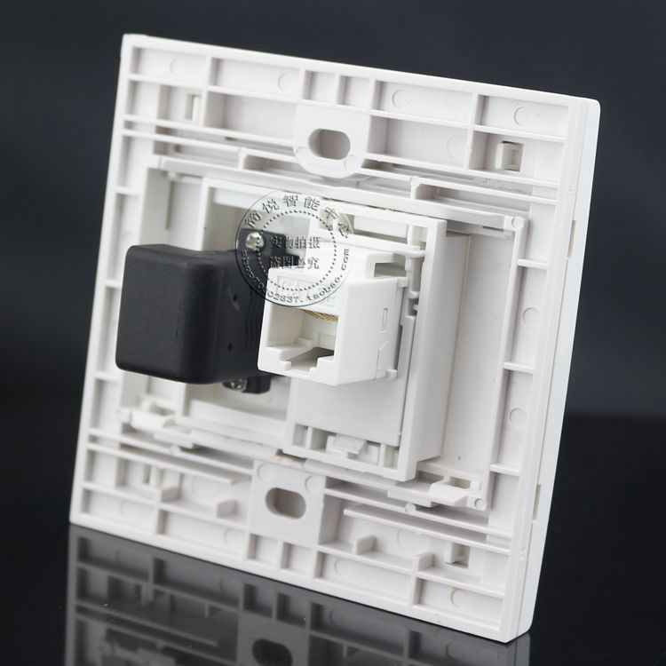 86型CAT5E网络直通+HDMI高清弯头直插面板 电脑网线高清电视墙插