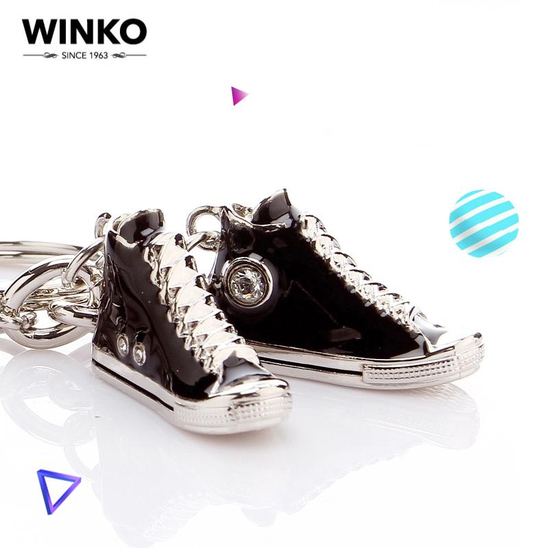 WINKO帆布鞋情侣钥匙扣女 车钥匙扣汽车钥匙挂件创意钥匙链韩国男 (¥49)