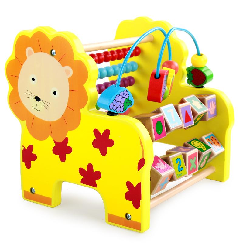 绕珠串珠幼儿童玩具宝宝0-1-2周岁婴儿早教益智男孩精细动作训练