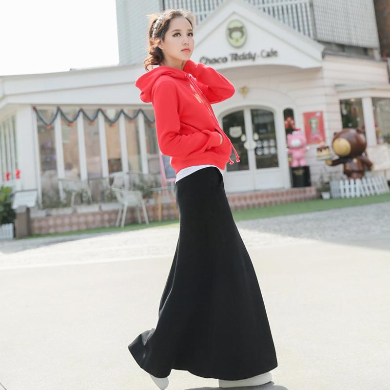 套装女装秋装休闲卫衣2019新款女装时尚休闲半身中长裙两件套显瘦