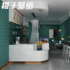 Retro dark green solid color net red wallpaper self-adhesive clothing store simple beauty salon restaurant background wall paper household
