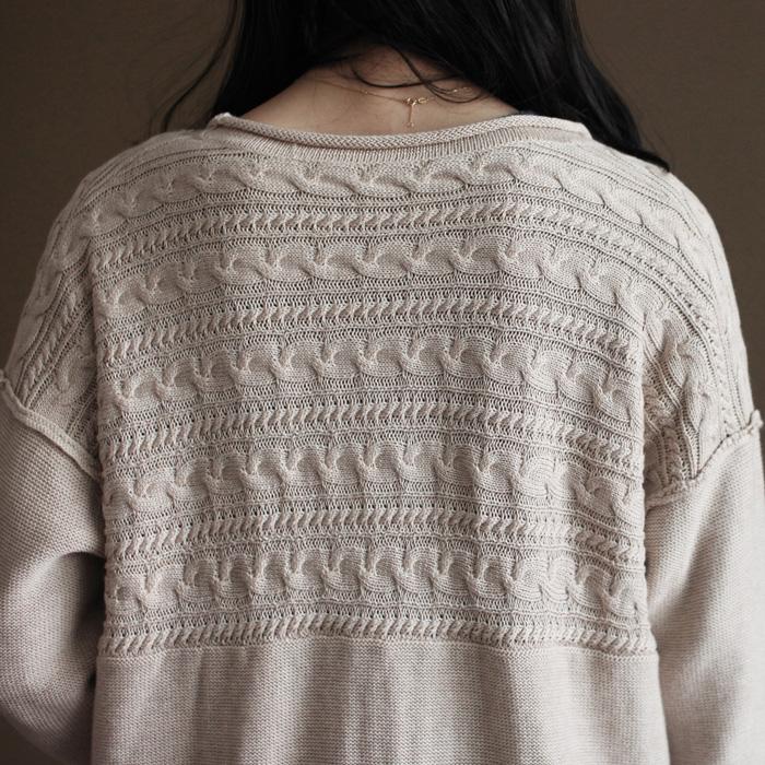 三五年Y098秋季文艺复古V领森系宽松大码针织开衫毛衣外套女上衣