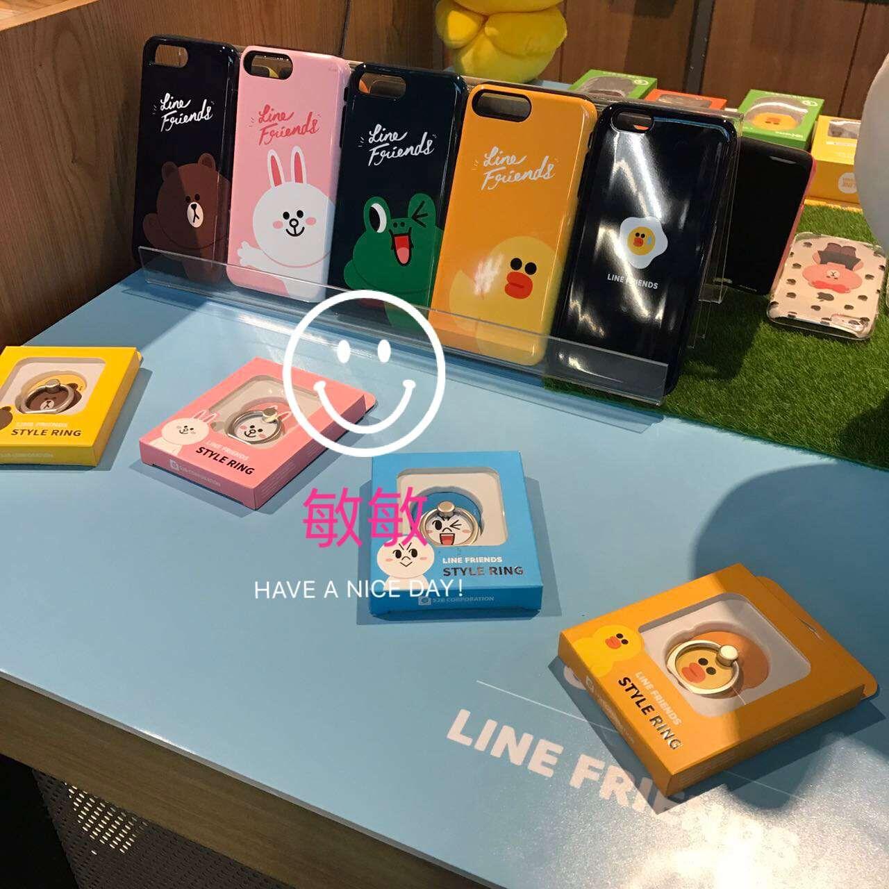 韩国Line Friends采购正品布朗熊iPhone7Plus手机壳6s防摔保护套X