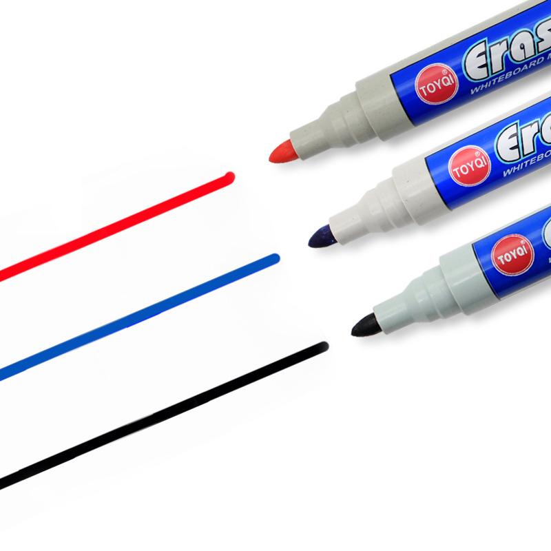新款可擦白板笔批发WB-528可擦记号笔黑色蓝色红色办公会议水性笔