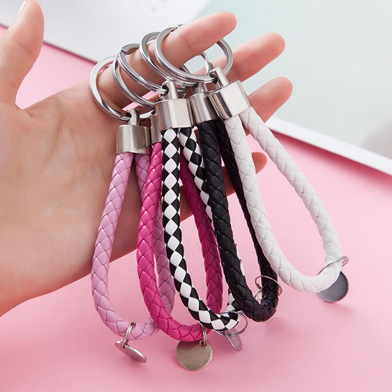 创意情侣礼物车钥匙扣男士汽车链女款包包挂件收纳圈女士小挂饰