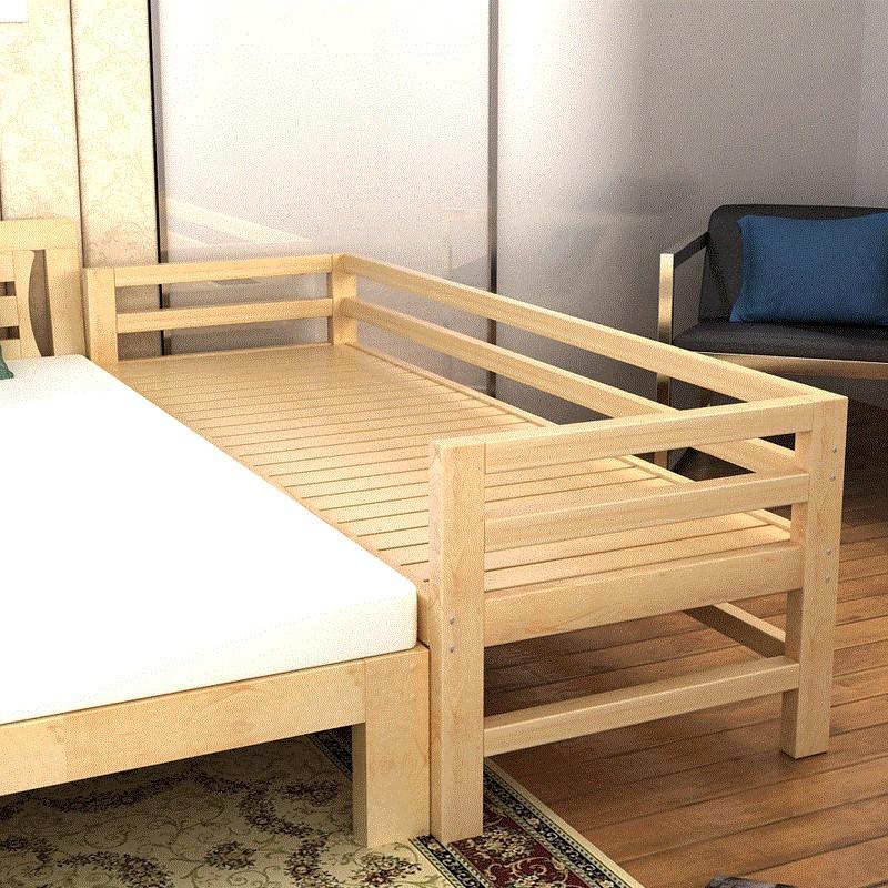 实木床拼接床带延边床加宽拼接床边大人神器儿童婴儿单人床经济型