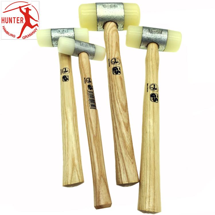 德国HUNTER猎人白色尼龙胶锤 安装防震锤子22 27 32 35 50 60mm
