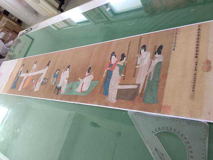 中國十大傳世名畫人物仕女搗練圖仿古畫復制畫國畫工筆畫臨摹畫稿