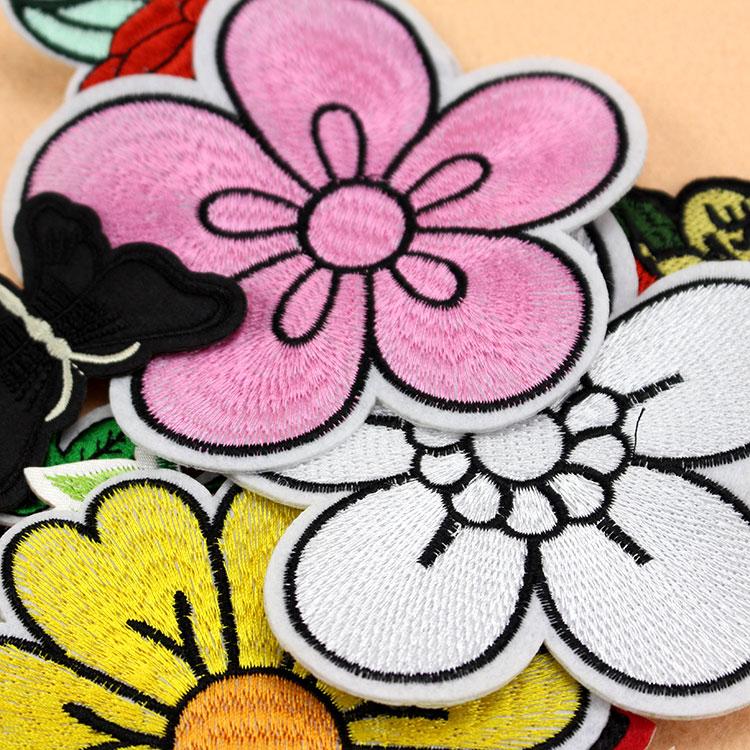 时尚小号花朵刺绣布贴羽绒服裙装标志衣服补丁贴花服装辅料装饰品