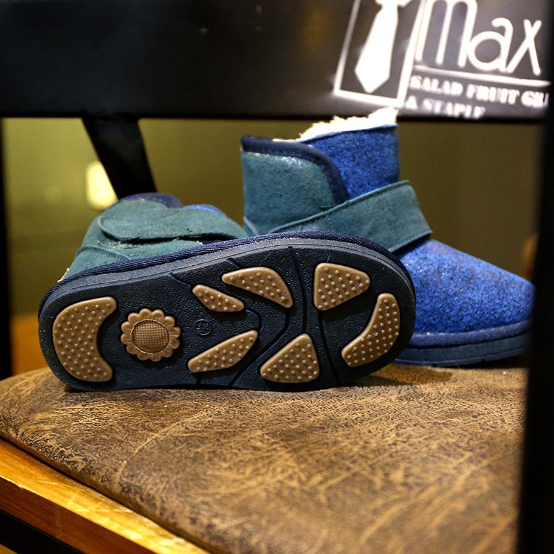 澳洲冬季儿童雪地靴男童鞋子宝宝鞋短靴加绒棉鞋女童靴子真皮防水