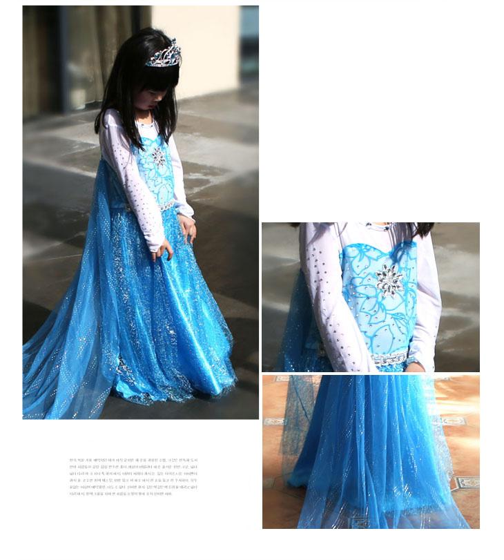 冰雪奇缘公主裙女童连衣裙万圣节儿童服装爱莎艾莎爱沙小女孩裙子