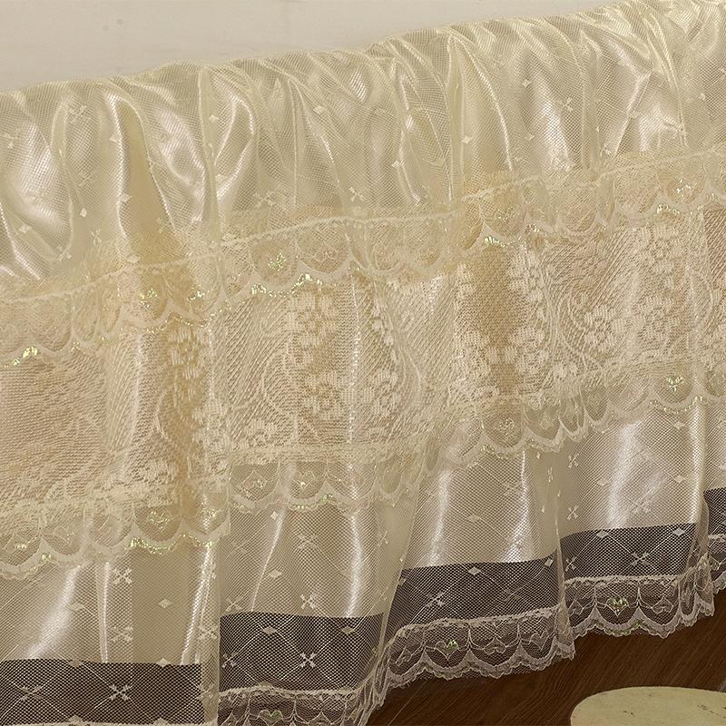 蕾丝床头罩床头套1.8m床防尘罩1.5m床欧式双人可拆洗软包布艺单件