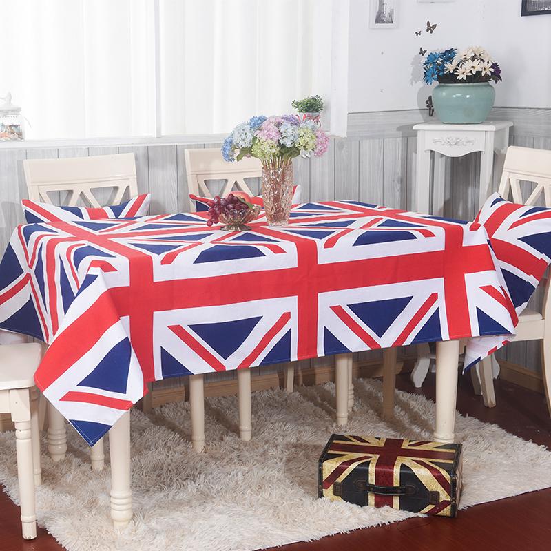 美式鄉村簡約英倫風米字旗桌布茶几布布藝歐式餐桌檯布英國旗蓋布