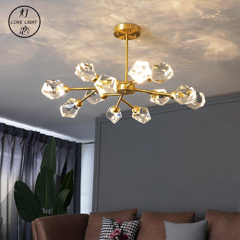 新款K9水晶北欧餐厅卧室灯饰