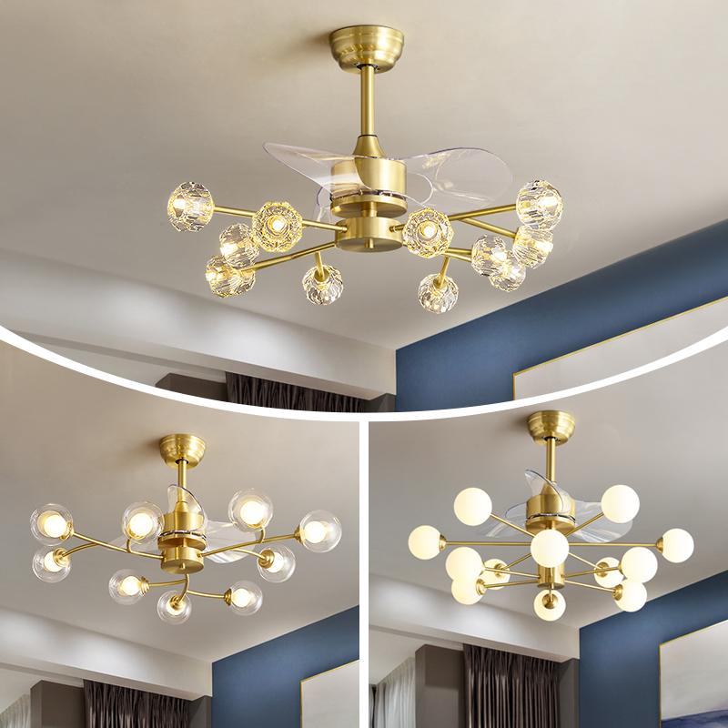 餐厅卧室变频风扇吊灯