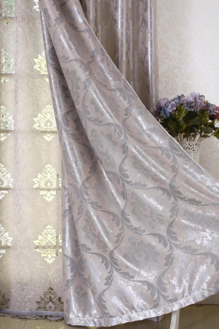 高遮光窗帘布料成品现代简欧式客厅卧室落地窗飘窗加厚定制3米高