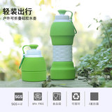 Folding cellular silica glass cup telescopically Japanese Korean travel high capacity can be installed in boiling water sports bottle