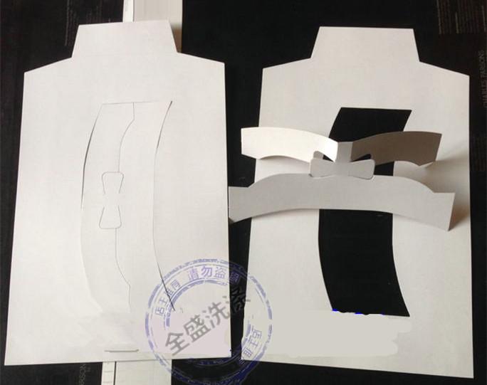 衬衣纸板衣服内衬纸板包装纸板毛衫衬衫辅料衬衣折叠纸板衣领折条