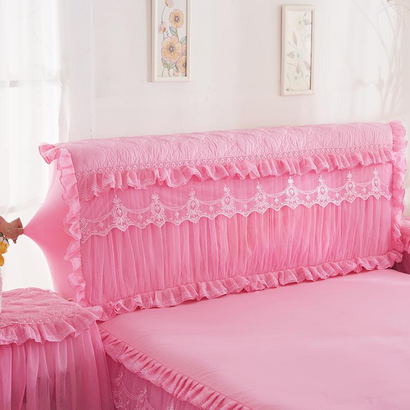 韩版公主夹棉加厚弹力全包床头罩床头套皮床头保护套防尘罩布艺