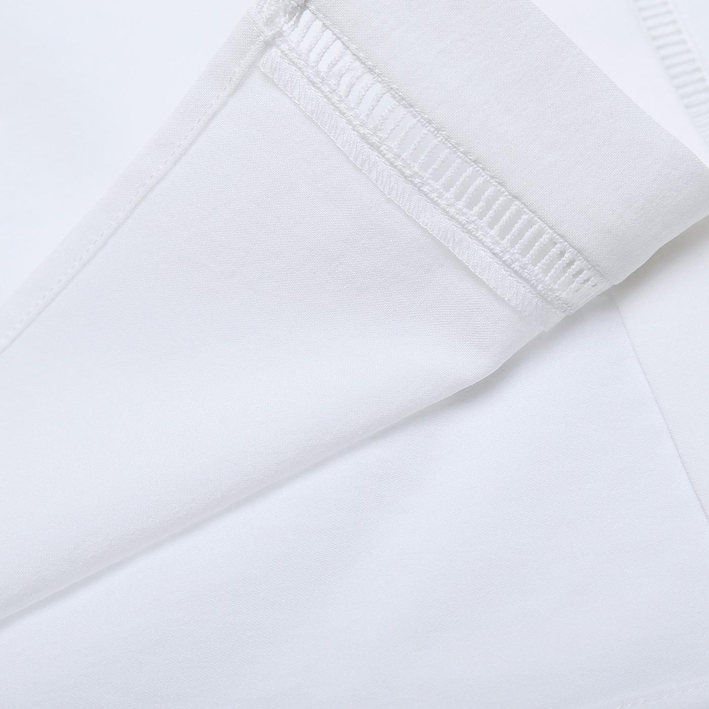 糖力 夏季欧美女装白色气质百褶袖一字领露肩衬衫上衣