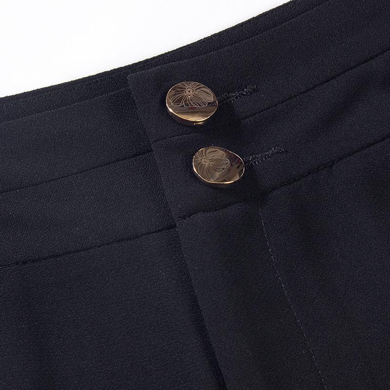 垂感雪纺阔腿裤女夏九分裤2019新款宽松高腰七分休闲裤子裙裤薄款