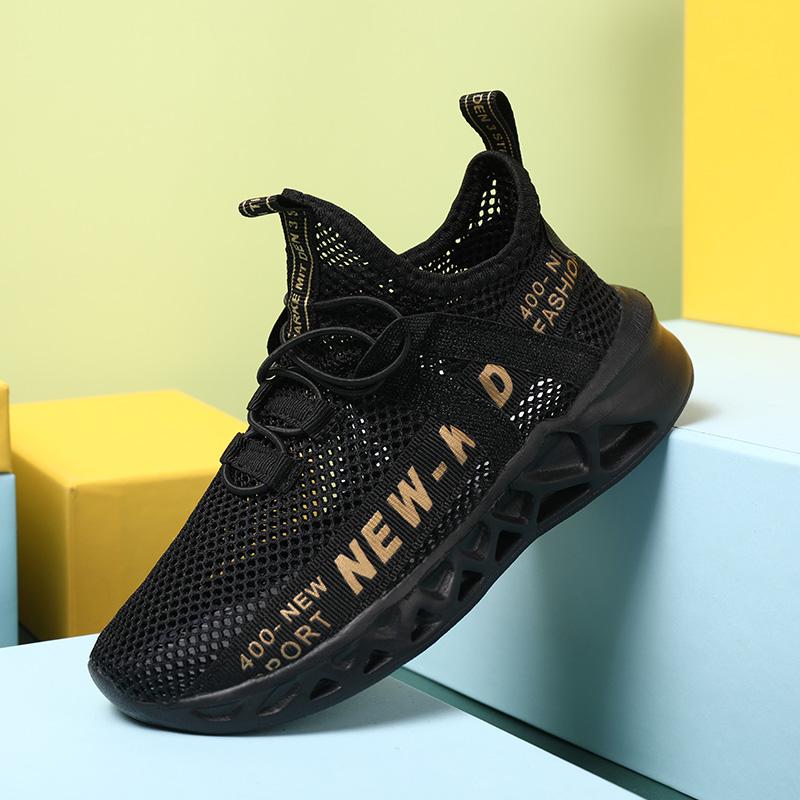 新款网面透气镂空男孩大童运动鞋夏季儿童鞋子 2020 回力男童单网鞋