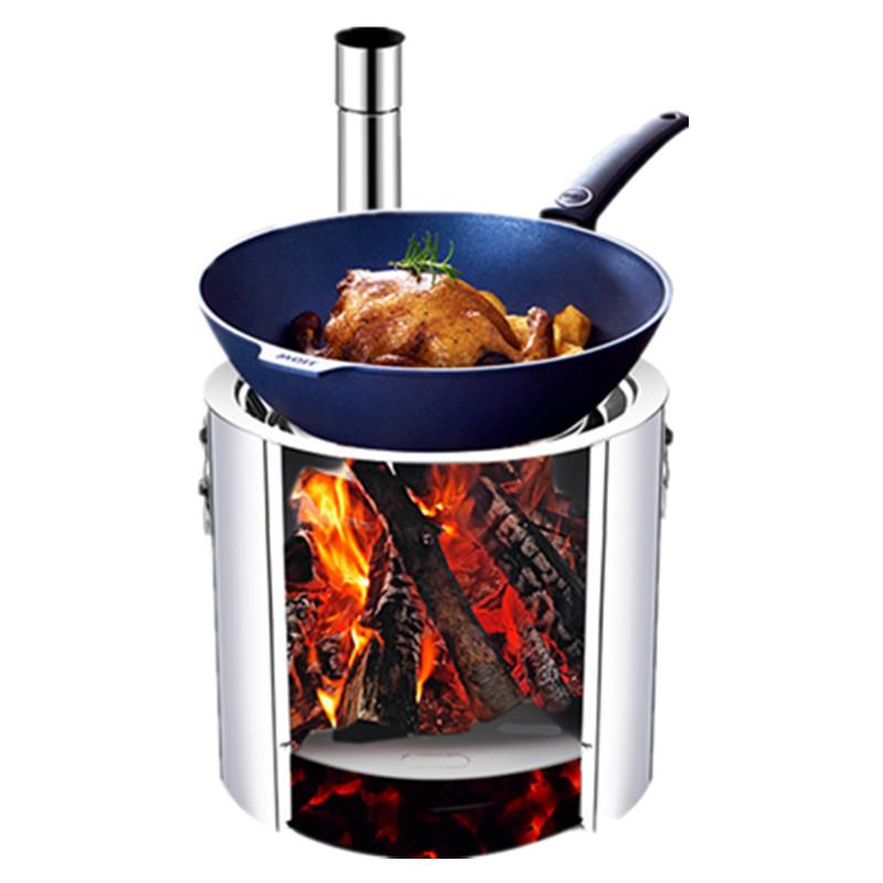 户外柴火炉子农村室外烧水野餐炉具野外便携野营用品自驾游野炊灶