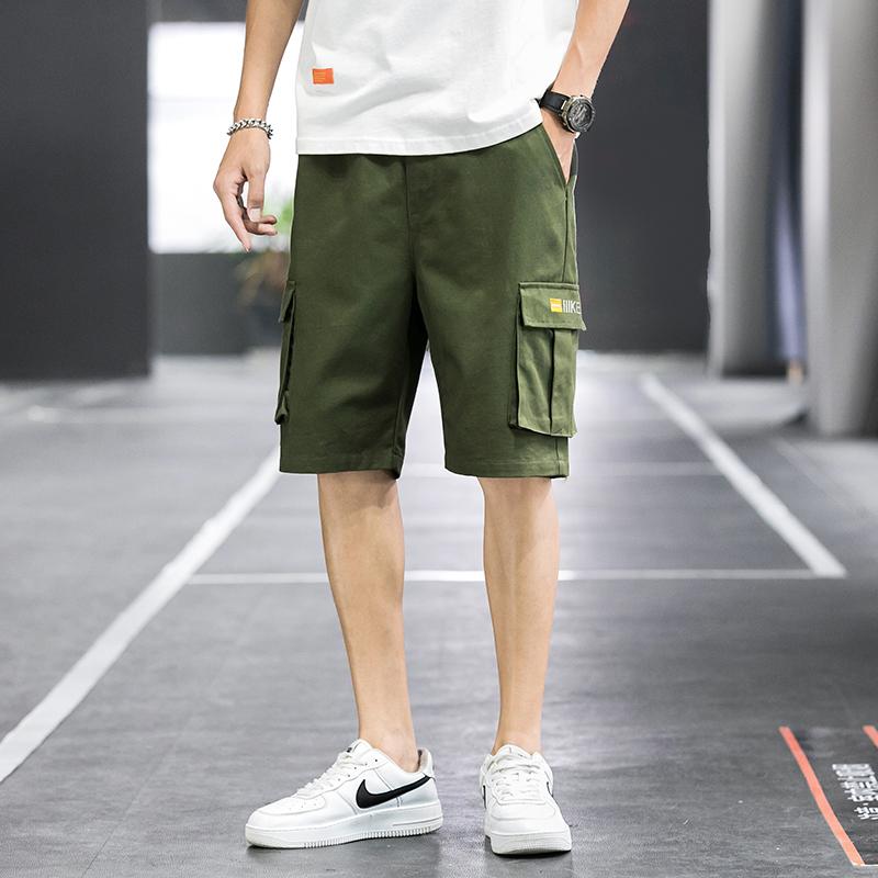 短裤男宽松休闲短裤大码外穿运动裤子男士夏季薄款透气纯棉五分裤