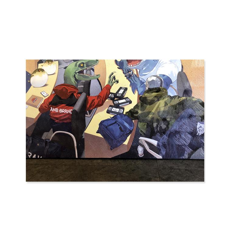ANB GUYS IN CLASSROOM 仿油画高清喷印无框版画