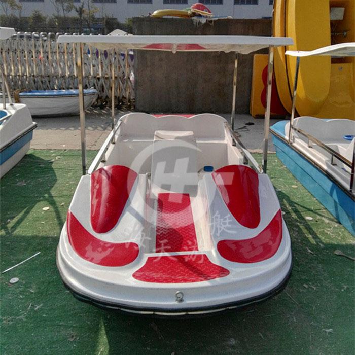 人脚踏船公园游乐船电动船玻璃钢脚蹬船景区水上自行车 5 4 新款