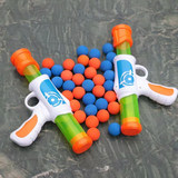 AOJIE new aerodynamic soft egg grab children toy guns capable of firing hand gun bursts the bubble boy playing