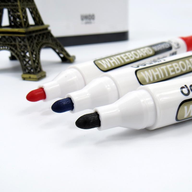 得力白板笔可擦水性笔教学白板书写笔展示板笔白板写字笔易写易擦