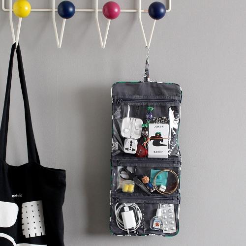 韩国oohlala 创意卡通悬挂折叠洗漱包居家旅行化妆袋工具袋大小号