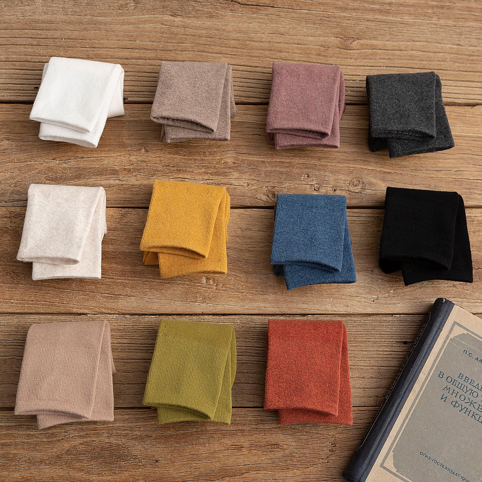 袜子女中筒袜堆堆袜薄款纯棉春秋韩国全棉长袜日系纯色秋冬长筒袜