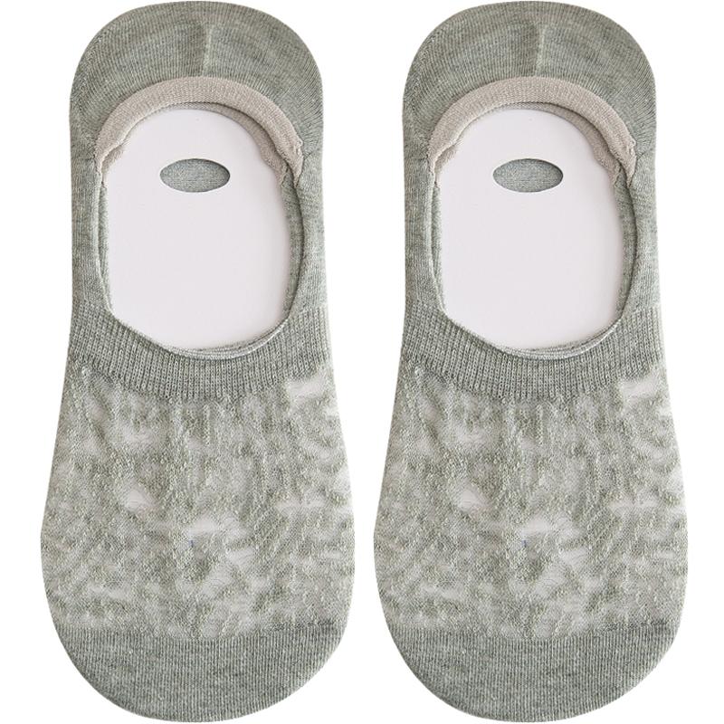 夏天船袜女纯棉隐形防滑不掉跟袜子女短袜浅口夏季薄款脚底床袜底主图