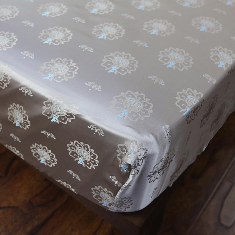 丝若水色织大提花真丝床单床笠 华美舒适宽幅桑蚕丝床盖床罩定制