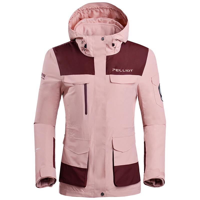 伯希和户外保暖冲锋衣男女潮牌三合一旅游两件套防水防风登山服装