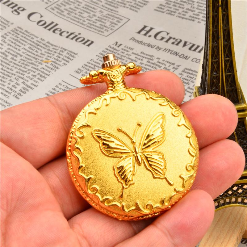 包邮复古怀表男翻盖土豪金色照片个性创意礼物百搭型项链石英手表