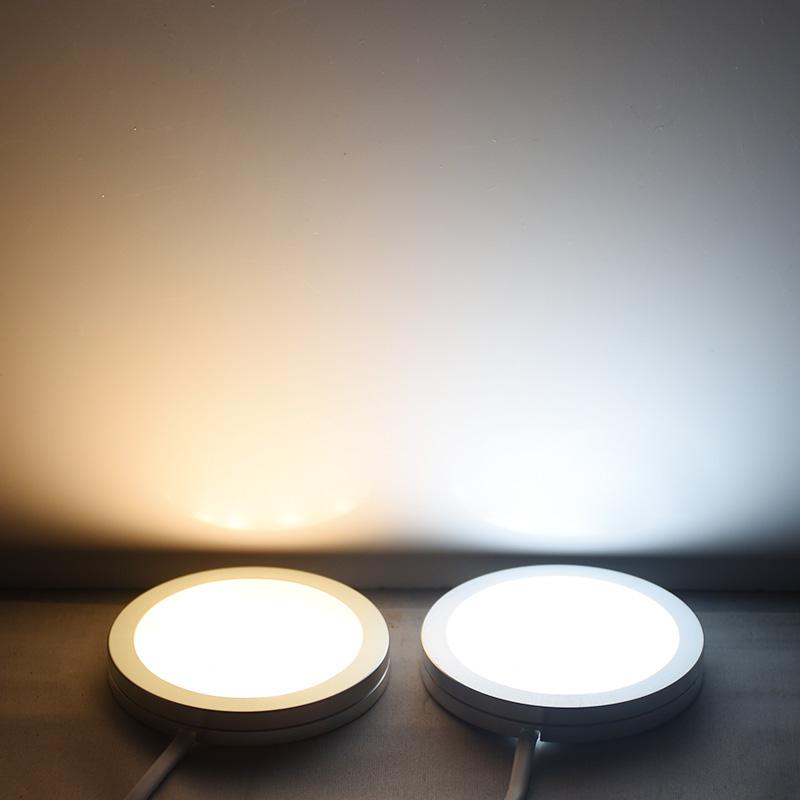 免开孔6套明装橱柜灯led柜内灯酒柜厨房吊柜衣柜书柜底筒灯超薄
