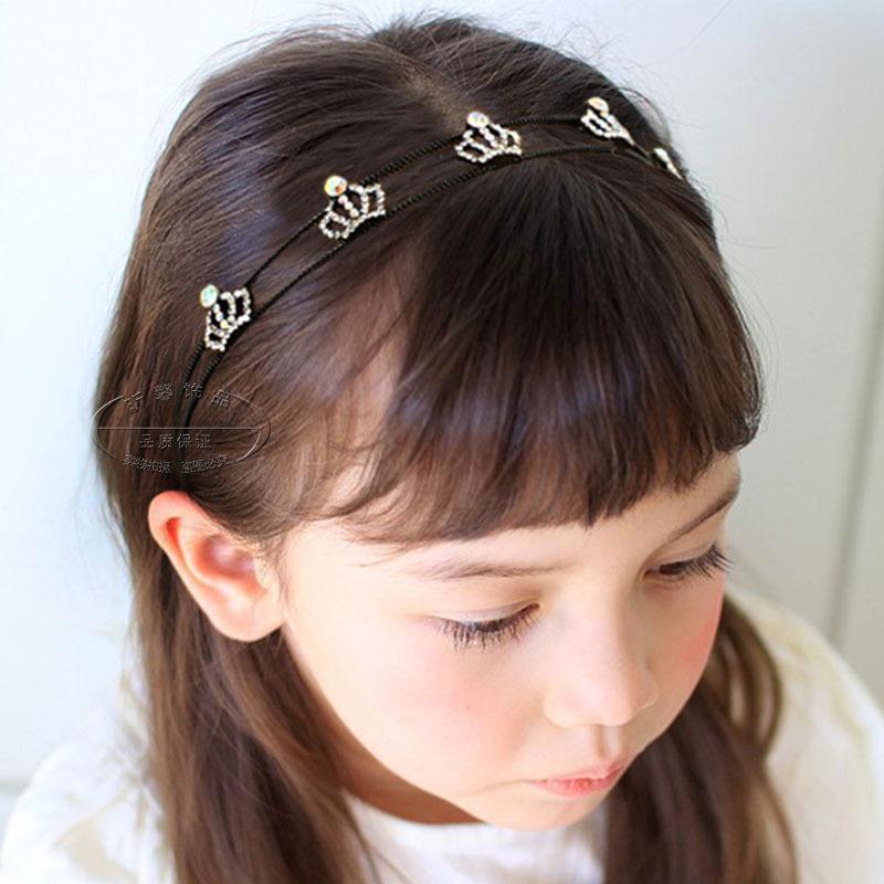 包郵兒童頭箍 女童螺紋防滑髮卡韓國版公主髮箍髮圈女孩髮夾頭飾