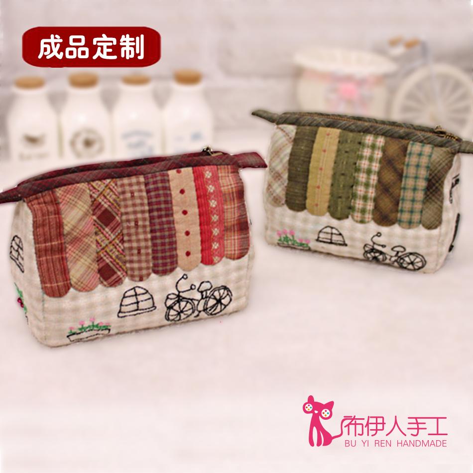 蘇姑娘手工布藝DIY 先染布藝拼布材料包 甜蜜小屋化妝包收納包