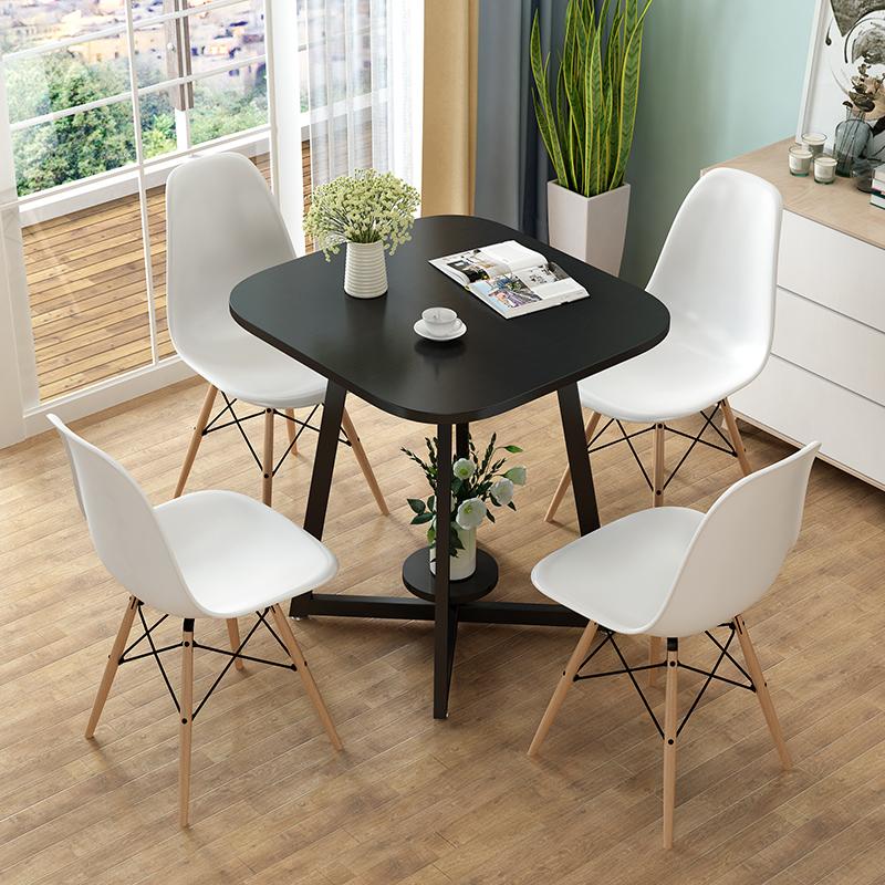 雙層簡約洽談桌椅組合辦公室店鋪會客接待小圓桌休閑咖啡廳陽臺桌