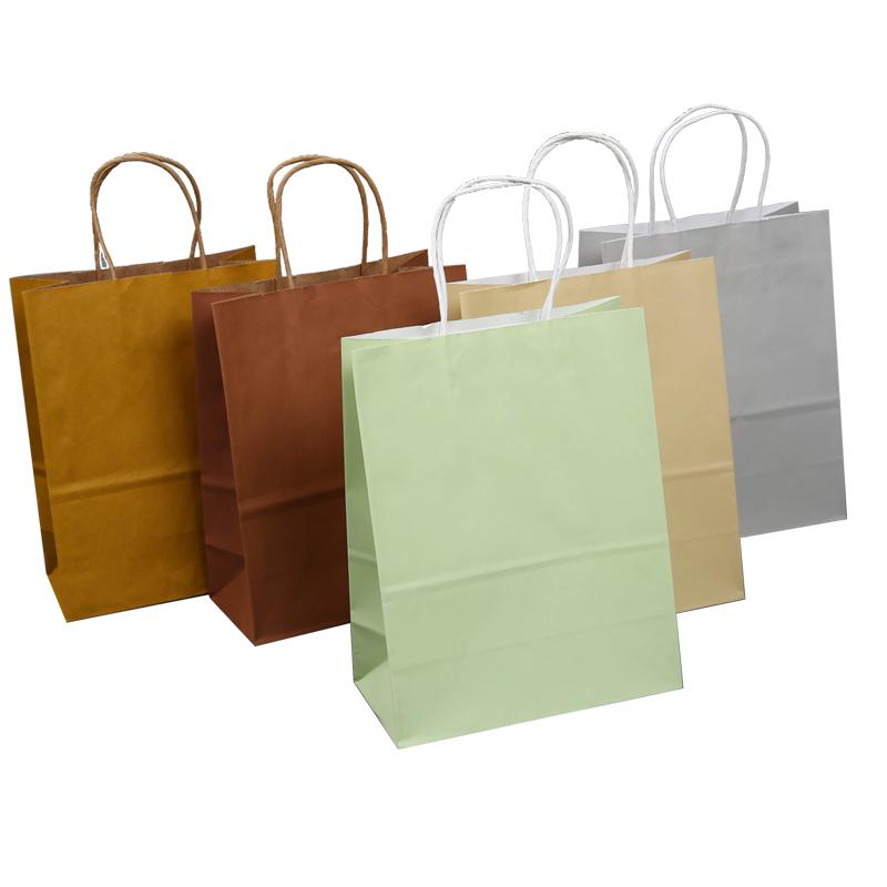 环保牛皮纸袋手提袋小礼品袋定制烘焙外卖衣服装店购物包装袋定做