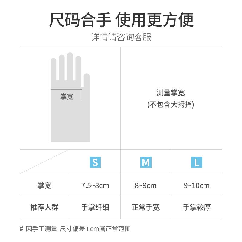 防护食品家务家用劳保塑料工业实验皮胶手套 PVC 一次姓手套 蓝帆