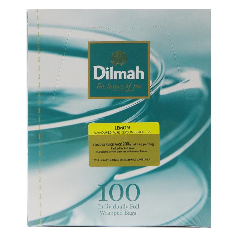 斯里兰卡进口红茶 袋泡茶红茶包水果茶包 100 柠檬红茶 dilmah 迪尔玛