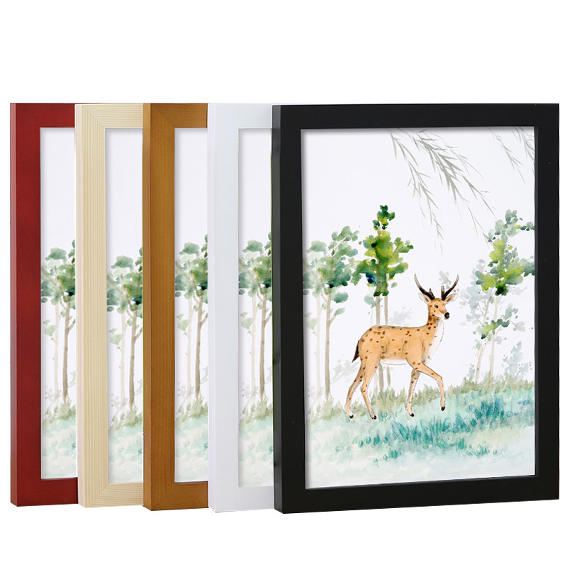 实木挂墙相框木质画框外框装裱创意16寸18 20 24 a3 A4定做海报框